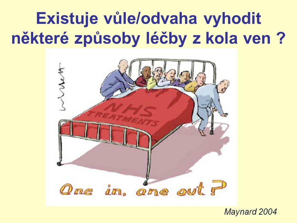 Existuje vůle/odvaha vyhodit některé způsoby léčby z kola ven ? Maynard 2004
