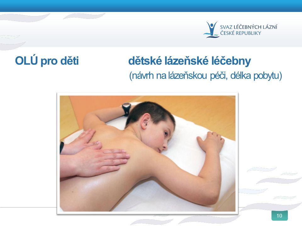 10 OLÚ pro děti dětské lázeňské léčebny (návrh na lázeňskou péči, délka pobytu)