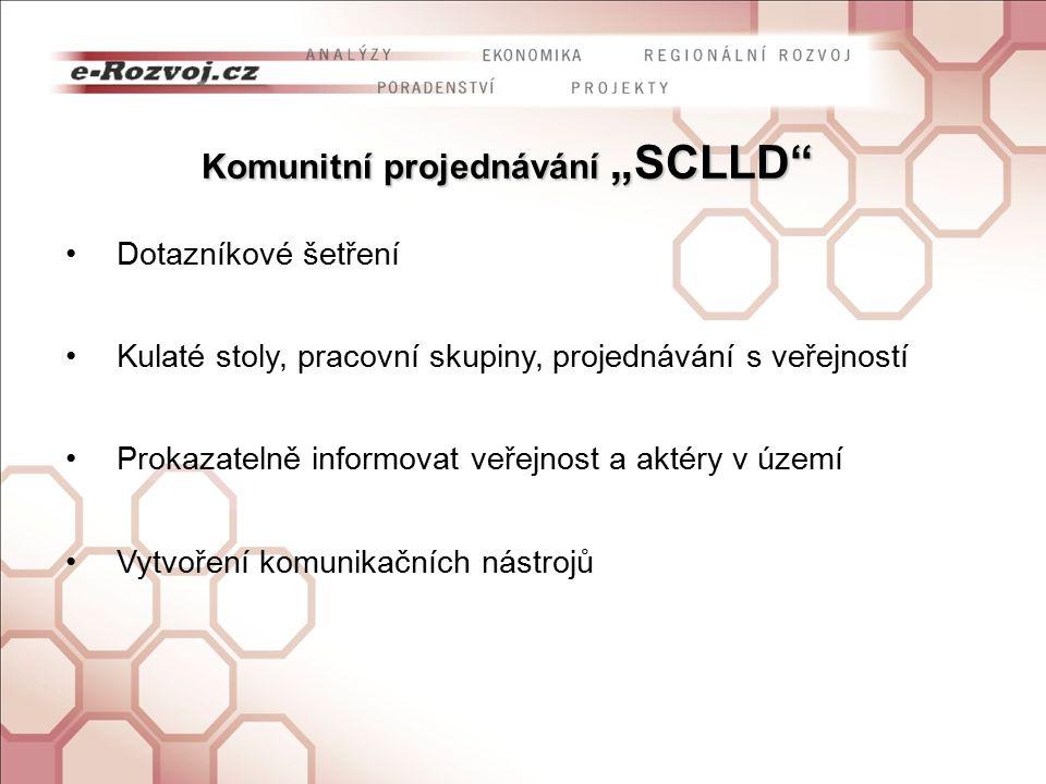 """Komunitní projednávání """"SCLLD Dotazníkové šetření Kulaté stoly, pracovní skupiny, projednávání s veřejností Prokazatelně informovat veřejnost a aktéry v území Vytvoření komunikačních nástrojů"""