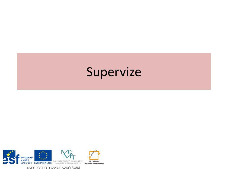 Cíle supervize mohou být: 1.krátkodobé, např.