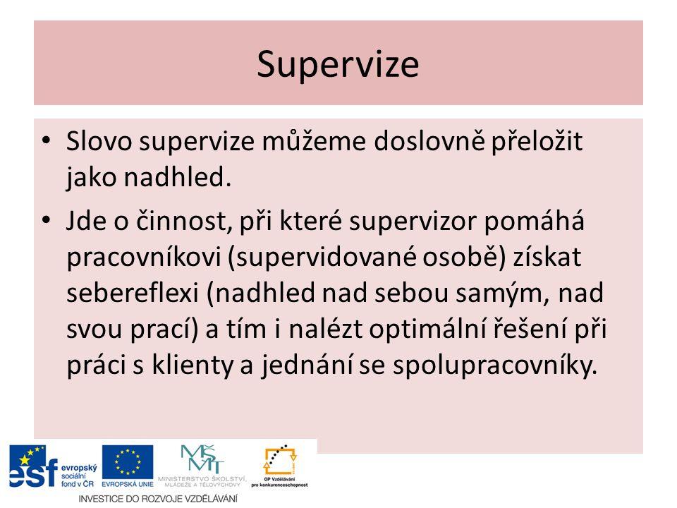 Slovo supervize můžeme doslovně přeložit jako nadhled.