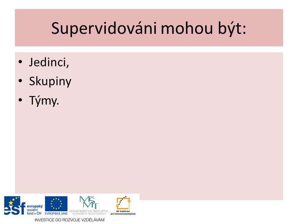 Dobrá supervize pomáhá: lépe využívat vlastní zdroje reagovat na různé výzvy (pozitivní i negativní) vyrovnat a rozvrhnout si pracovní zátěž