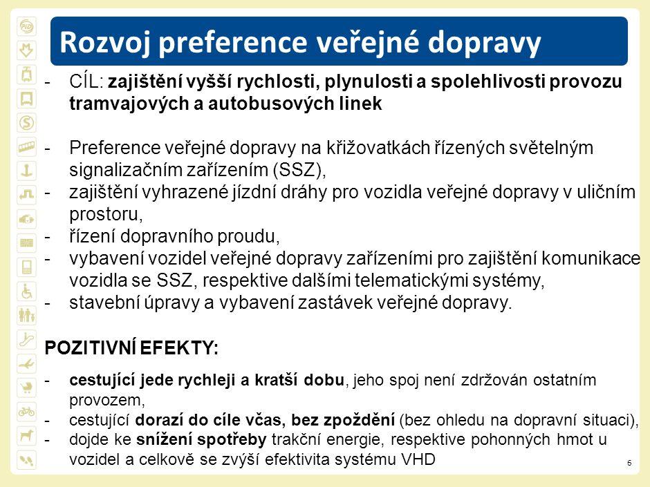 7 Rozvoj preference veřejné dopravy