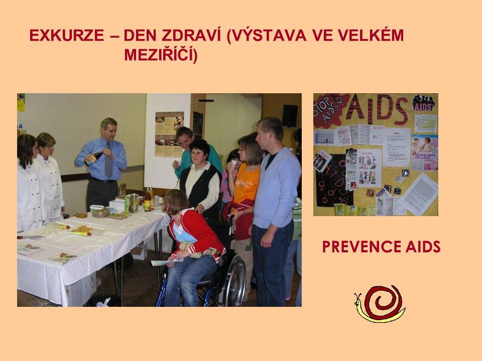 EXKURZE – DEN ZDRAVÍ (VÝSTAVA VE VELKÉM MEZIŘÍČÍ) PREVENCE AIDS