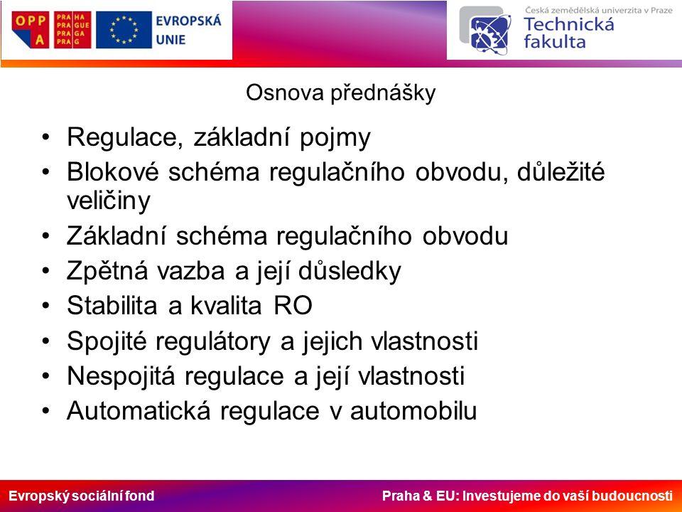 Evropský sociální fond Praha & EU: Investujeme do vaší budoucnosti Dynamické vlastnosti členů RO Impulsová (váhová) charakteristika g(t) –Grafická závislost výstupní veličiny bloku na čase, když na vstupu bloku je tzv.
