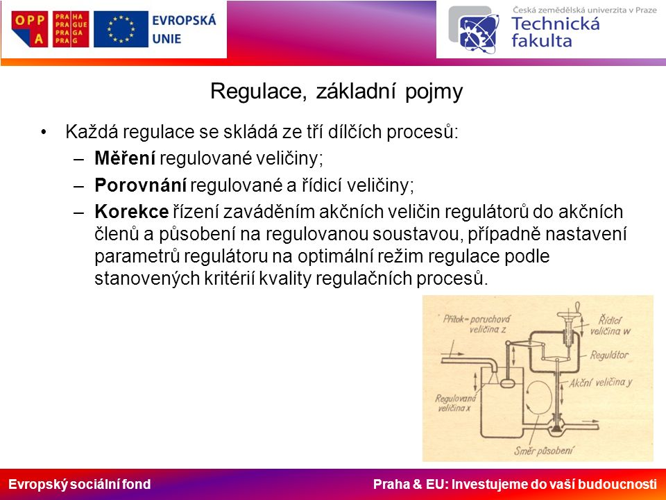 Evropský sociální fond Praha & EU: Investujeme do vaší budoucnosti Nespojité regulátory