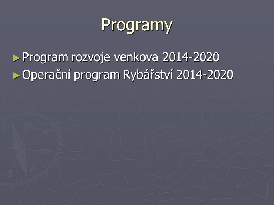 Programy ► Program rozvoje venkova 2014-2020 ► Operační program Rybářství 2014-2020