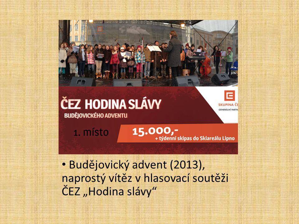 """Budějovický advent (2013), naprostý vítěz v hlasovací soutěži ČEZ """"Hodina slávy"""""""