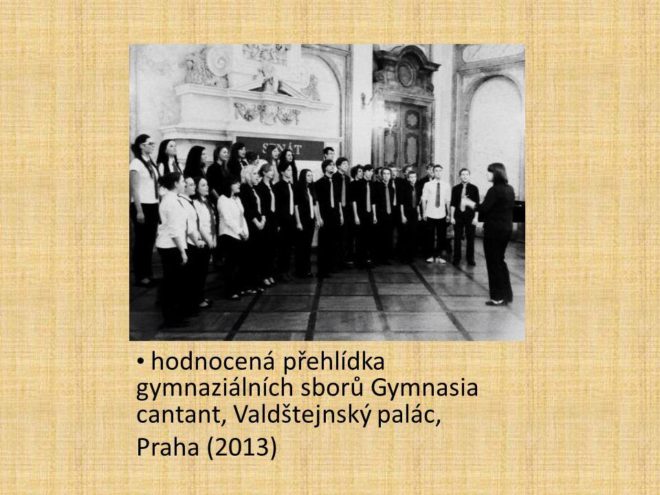 hodnocená přehlídka gymnaziálních sborů Gymnasia cantant, Valdštejnský palác, Praha (2013)