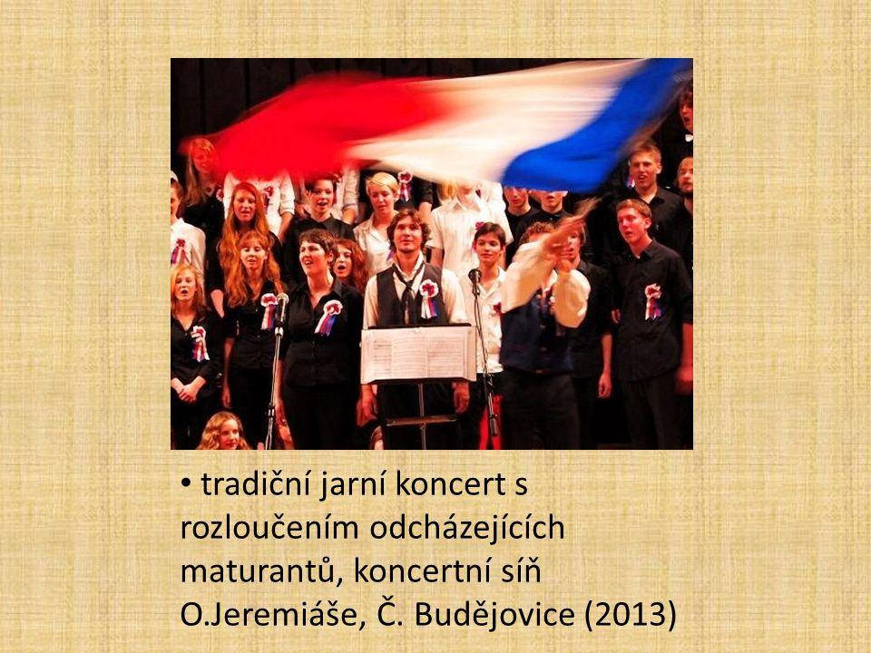tradiční jarní koncert s rozloučením odcházejících maturantů, koncertní síň O.Jeremiáše, Č.
