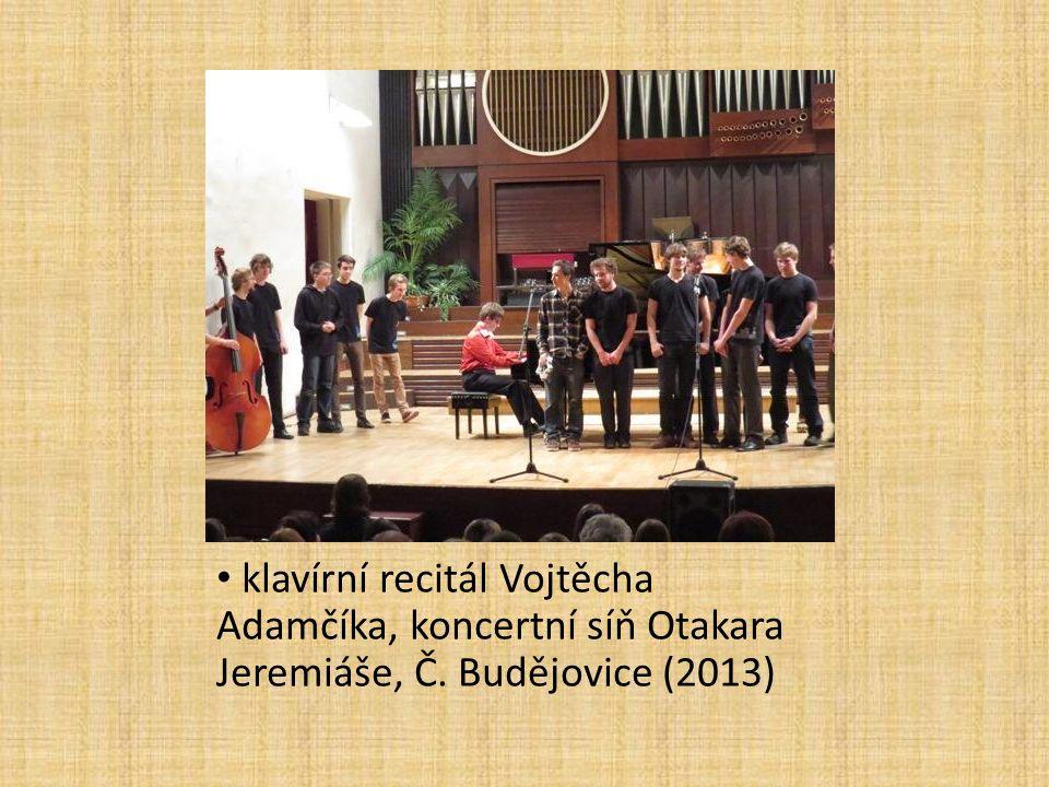 klavírní recitál Vojtěcha Adamčíka, koncertní síň Otakara Jeremiáše, Č. Budějovice (2013)