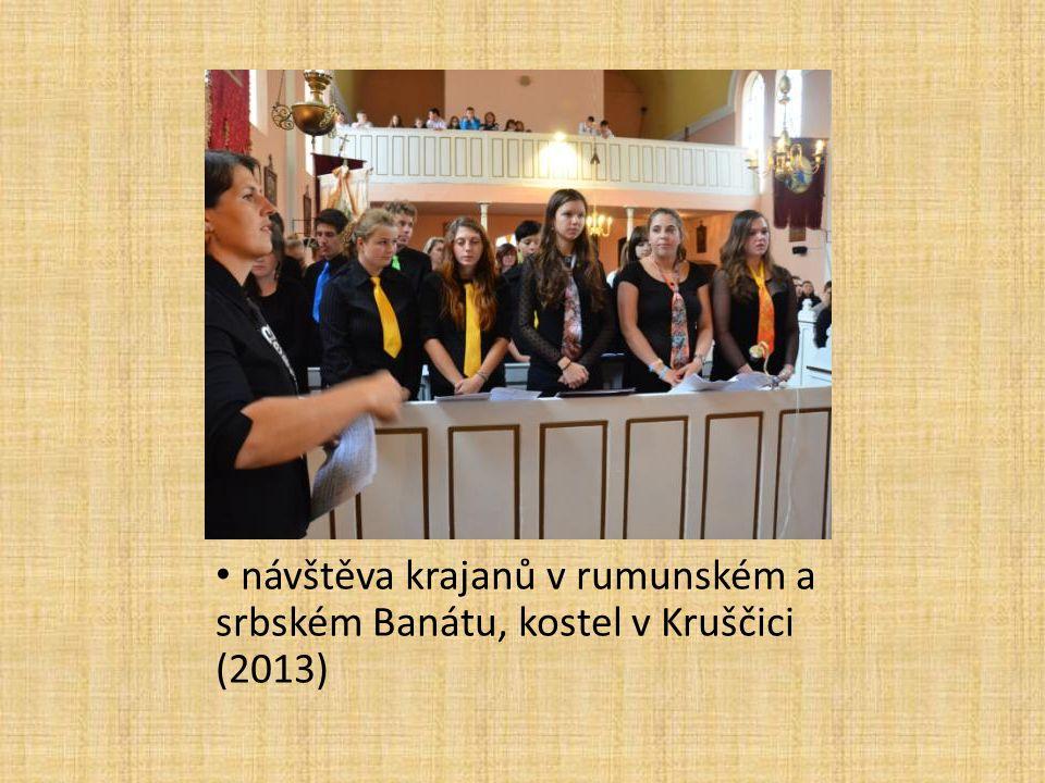 návštěva krajanů v rumunském a srbském Banátu, kostel v Kruščici (2013)