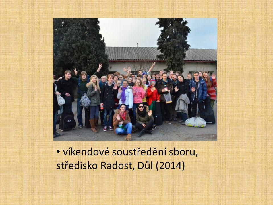 víkendové soustředění sboru, středisko Radost, Důl (2014)