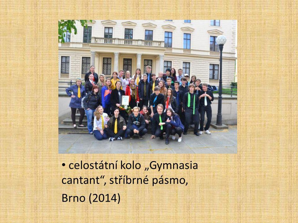 """celostátní kolo """"Gymnasia cantant , stříbrné pásmo, Brno (2014)"""