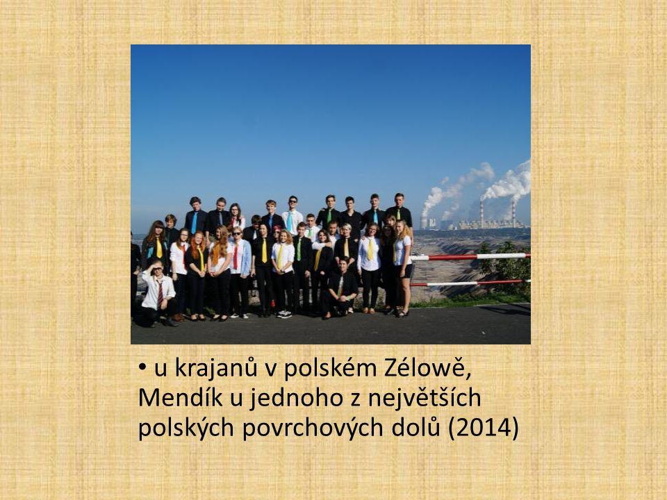 u krajanů v polském Zélowě, Mendík u jednoho z největších polských povrchových dolů (2014)