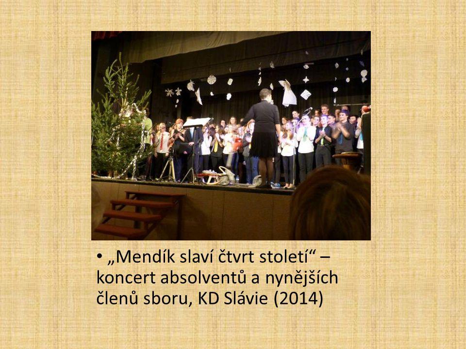 """""""Mendík slaví čtvrt století"""" – koncert absolventů a nynějších členů sboru, KD Slávie (2014)"""