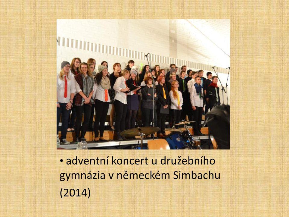 adventní koncert u družebního gymnázia v německém Simbachu (2014)
