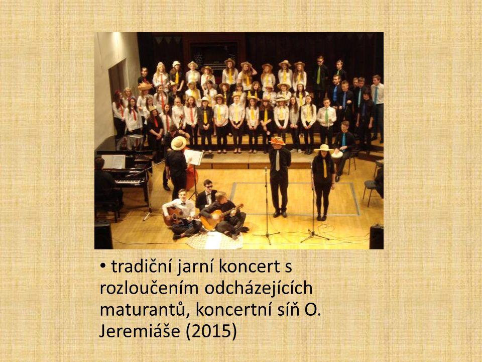 tradiční jarní koncert s rozloučením odcházejících maturantů, koncertní síň O. Jeremiáše (2015)