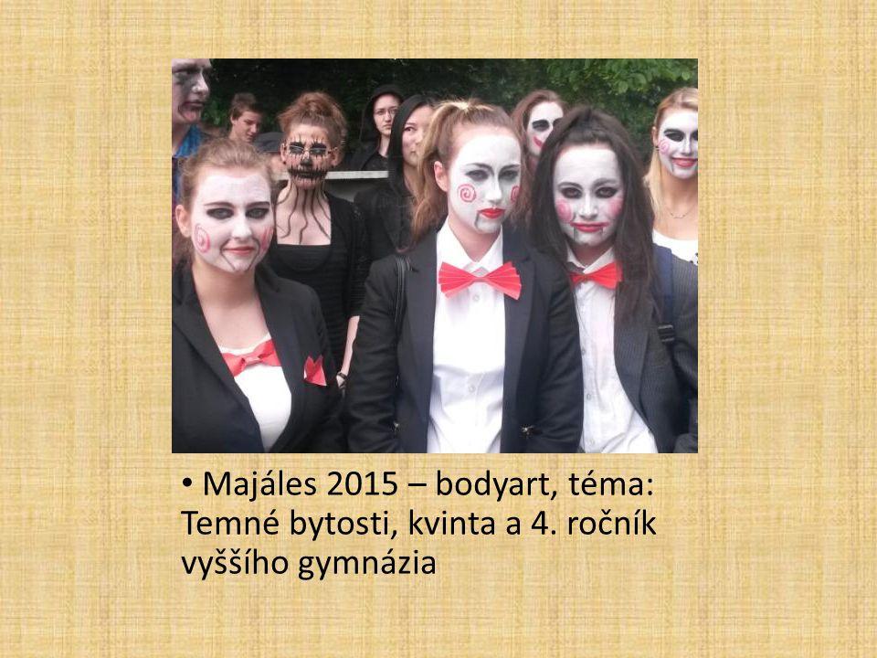 Majáles 2015 – bodyart, téma: Temné bytosti, kvinta a 4. ročník vyššího gymnázia
