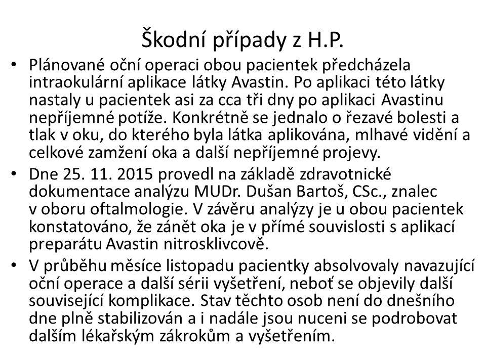 Škodní případy z H.P.
