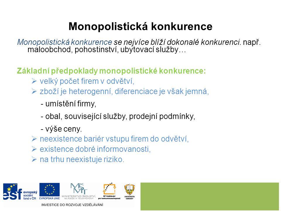 5. MONOPOLISTICKÁ KONKURENCE.