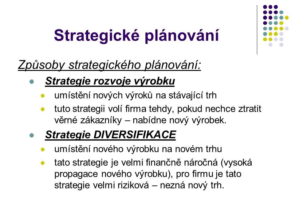 Konkurenční strategie V roce 1980 v USA přišel Michael Eugene Porter s návrhem na vytvoření 3 základních konkurenčních strategií.