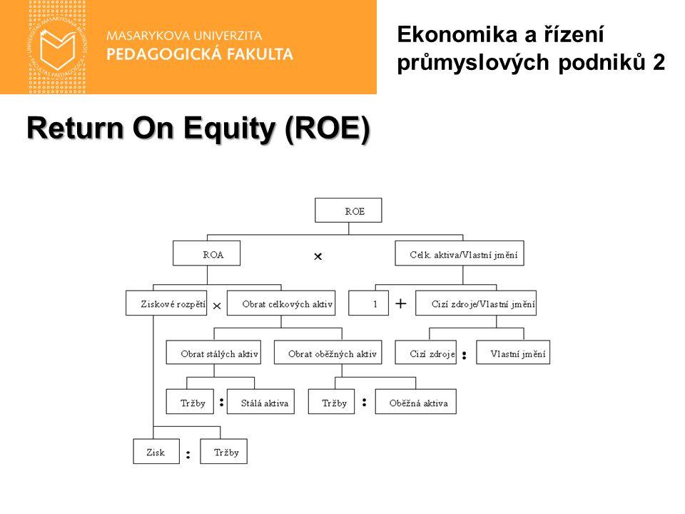 Return On Equity (ROE) Ekonomika a řízení průmyslových podniků 2