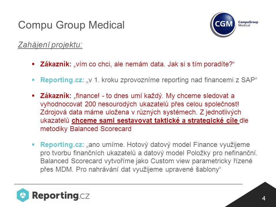 """4 Compu Group Medical Zahájení projektu:  Zákazník: """"vím co chci, ale nemám data."""