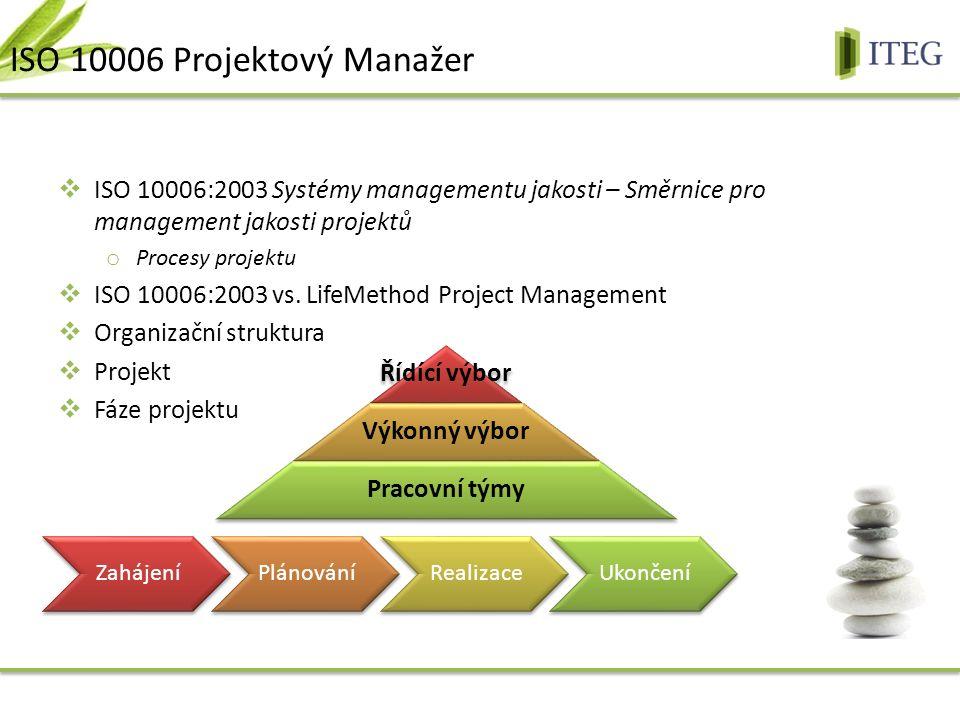  ISO 10006:2003 Systémy managementu jakosti – Směrnice pro management jakosti projektů o Procesy projektu  ISO 10006:2003 vs.