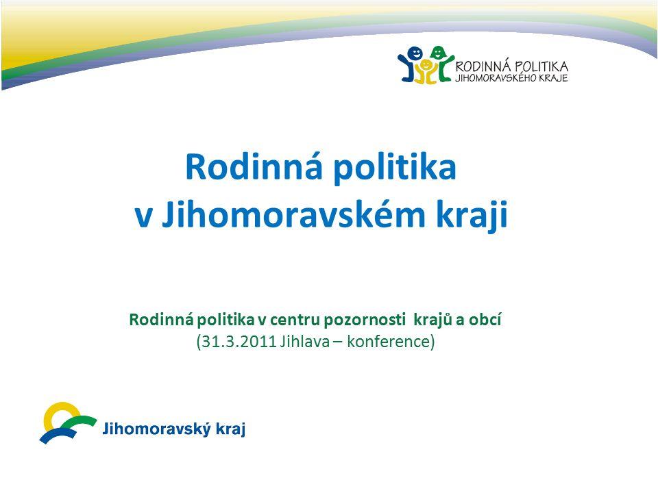 Rodinná politika v Jihomoravském kraji Rodinná politika v centru pozornosti krajů a obcí (31.3.2011 Jihlava – konference)