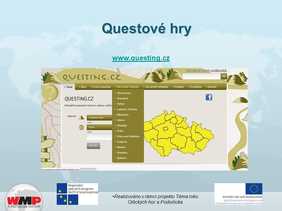 Questové hry www.questing.cz Realizováno v rámci projektu Téma roku Orlických hor a Podorlicka