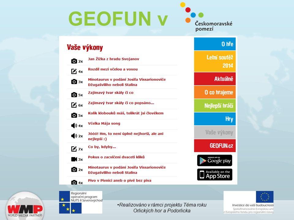 GEOFUN v Realizováno v rámci projektu Téma roku Orlických hor a Podorlicka