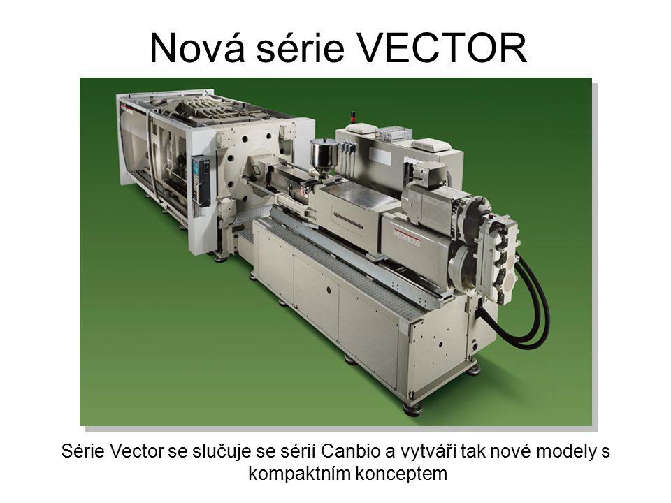 Modely: V600, V700, V850, V1000, V1250 & V1500 Nová série VECTOR Nová série Vector kombinuje výhody série Vector, elektrického motoru s vektorovou kontrolou pro rotaci šneku a nízkou spotřebu energie se sérií Canbio ve věrné originální podobě lisu.