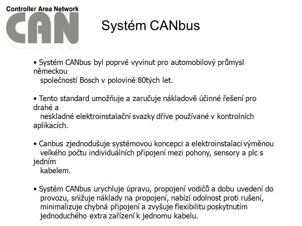 Systém CANbus byl poprvé vyvinut pro automobilový průmysl německou společností Bosch v polovině 80tých let. Tento standard umožňuje a zaručuje náklado
