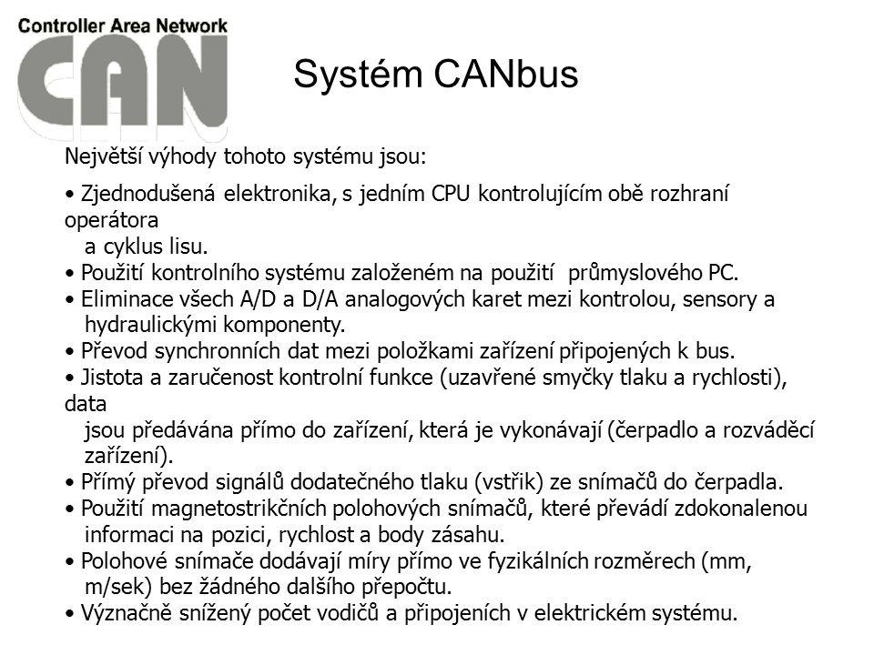 Největší výhody tohoto systému jsou: Zjednodušená elektronika, s jedním CPU kontrolujícím obě rozhraní operátora a cyklus lisu. Použití kontrolního sy