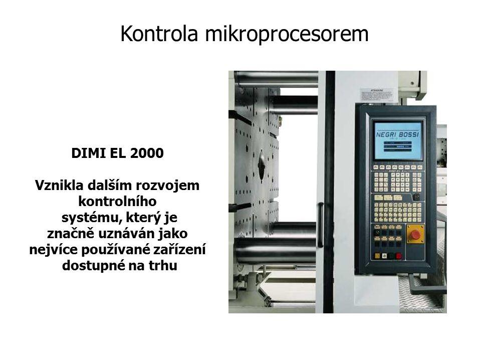 DIMI EL 2000 Vznikla dalším rozvojem kontrolního systému, který je značně uznáván jako nejvíce používané zařízení dostupné na trhu Kontrola mikroproce