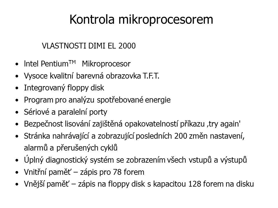 lntel Pentium TM Mikroprocesor Vysoce kvalitní barevná obrazovka T.F.T. Integrovaný floppy disk Program pro analýzu spotřebované energie Sériové a par