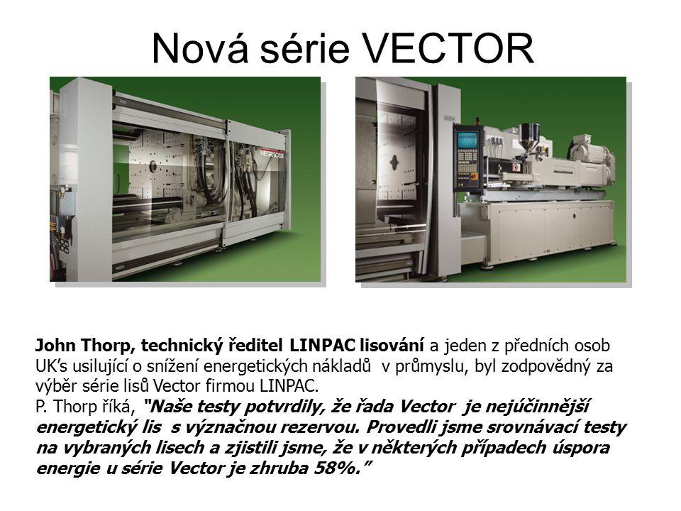 Spotřeba energie různých typů pohonů Spotřeba energie série Vector je o 40% nižší než u tradičních projektů.