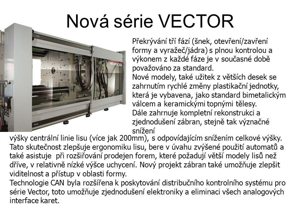 Níže je uvedeno srovnání mezi skutečnou spotřebovanou energií u jednoho z nových lisů ve srovnání s lisem řady NB, který je vybaven fixními výtlačnými čerpadly a proporcionálním tlakem a průtokovými kontrolními ventily, oba lisy vyrábí stejný výrobek.