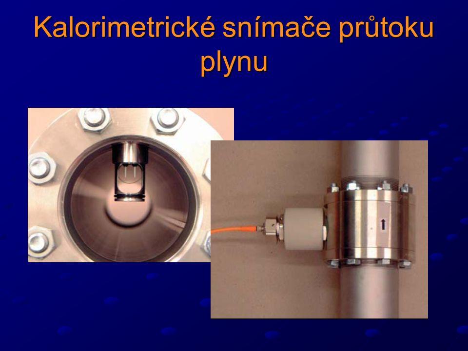 Kalorimetrické snímače průtoku plynu