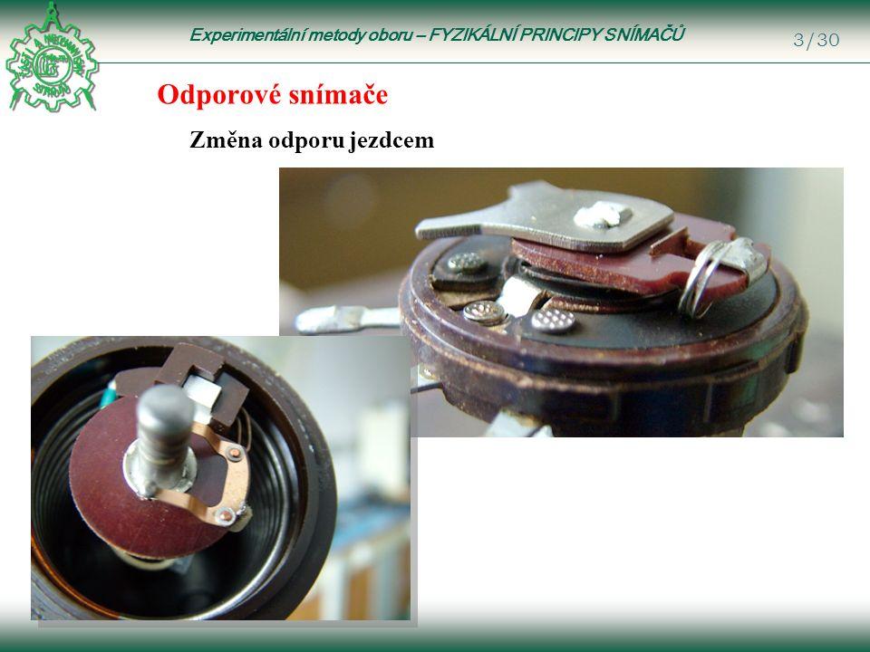 Experimentální metody oboru – FYZIKÁLNÍ PRINCIPY SNÍMAČŮ 24/30 Piezoelektrické snímače Jsou založeny na tzv.