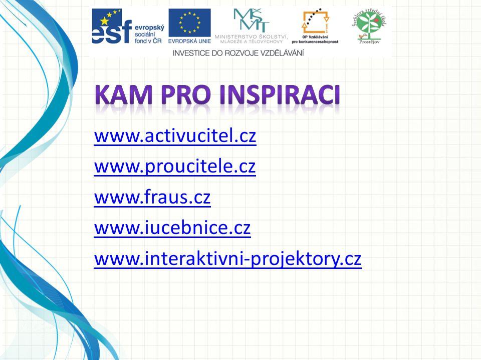 www.activucitel.cz www.proucitele.cz www.fraus.cz www.iucebnice.cz www.interaktivni-projektory.cz