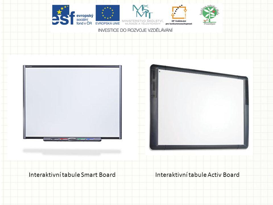 Interaktivní tabule Smart BoardInteraktivní tabule Activ Board