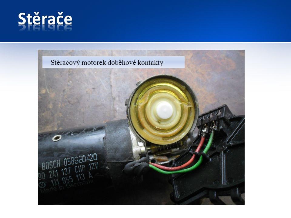 Stěračový motorek doběhové kontakty