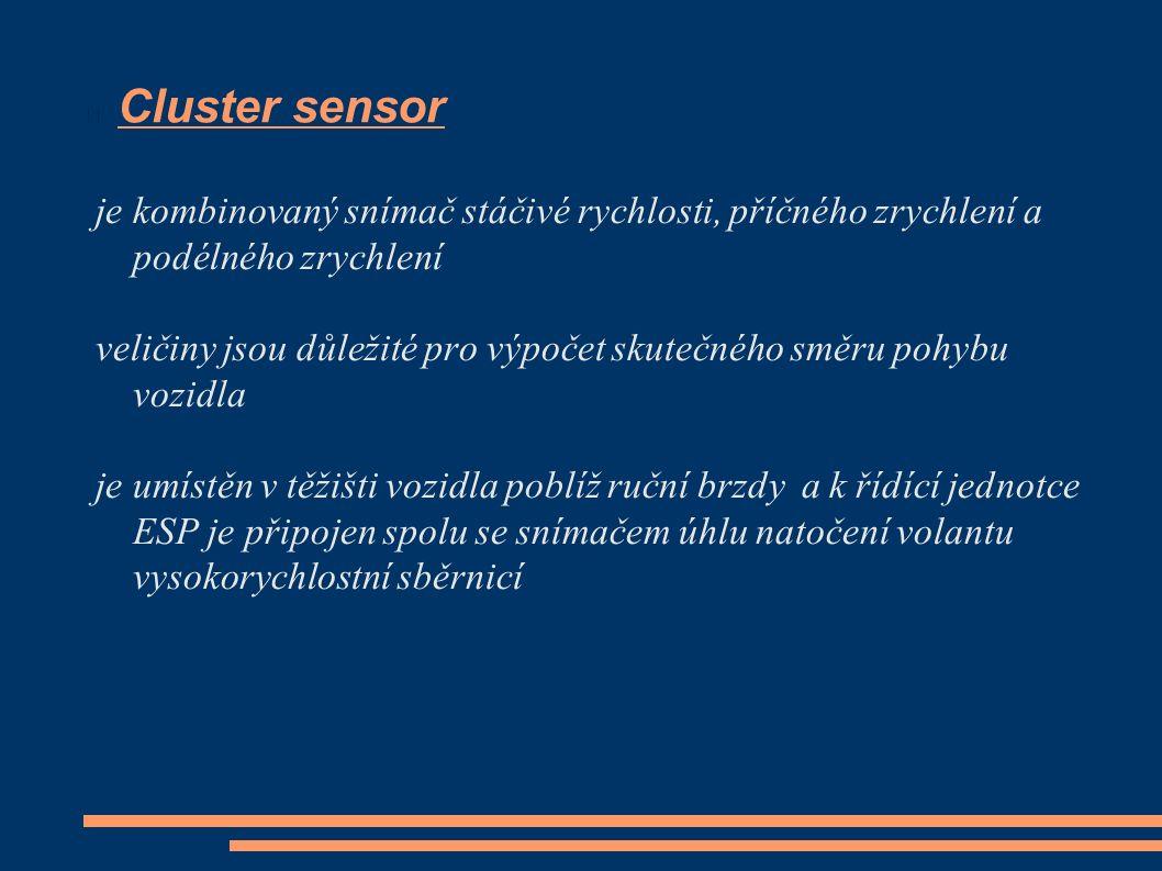 Cluster sensor je kombinovaný snímač stáčivé rychlosti, příčného zrychlení a podélného zrychlení veličiny jsou důležité pro výpočet skutečného směru p