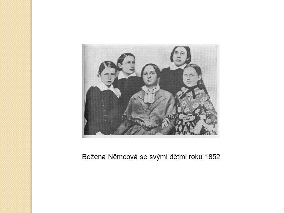 Božena Němcová se svými dětmi roku 1852