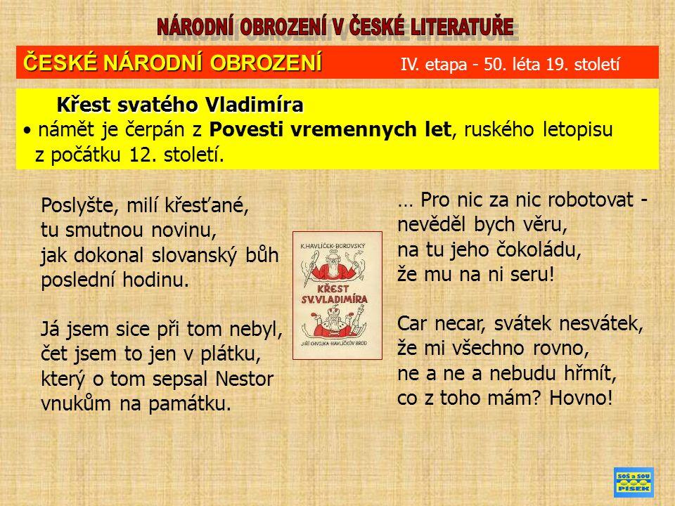 Poslyšte, milí křesťané, tu smutnou novinu, jak dokonal slovanský bůh poslední hodinu.