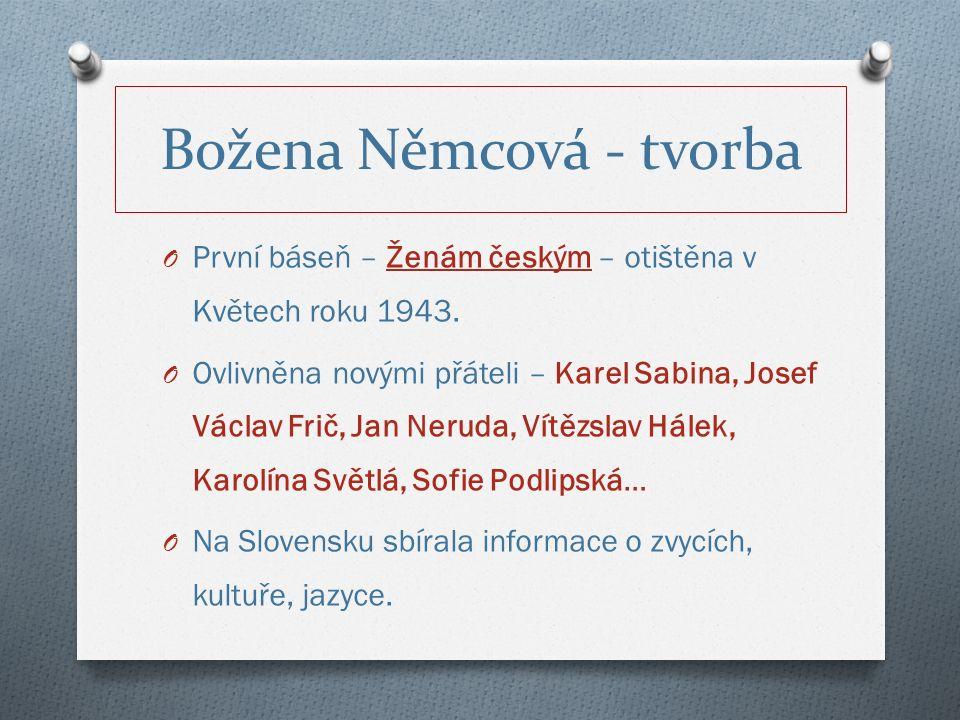 O První báseň – Ženám českým – otištěna v Květech roku 1943.