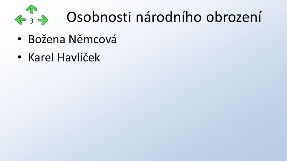 Osobnosti národního obrození Božena Němcová Karel Havlíček 3