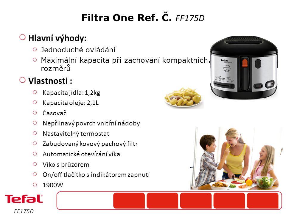 Hlavní výhody: Jednoduché ovládání Maximální kapacita při zachování kompaktních rozměrů Vlastnosti : Kapacita jídla: 1,2kg Kapacita oleje: 2,1L Časova